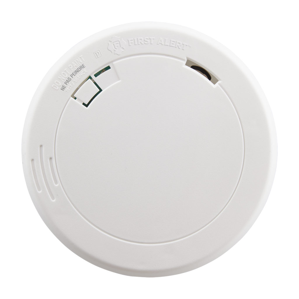 Slim Battery-Operated Photoelectric Smoke Alarm Front View