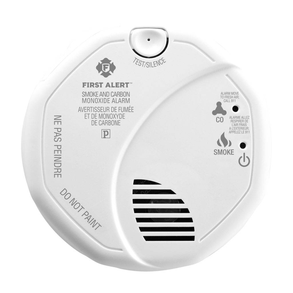 Wireless Interconnected Photoelectric Smoke and Carbon Monoxide Combo Alarm Front View