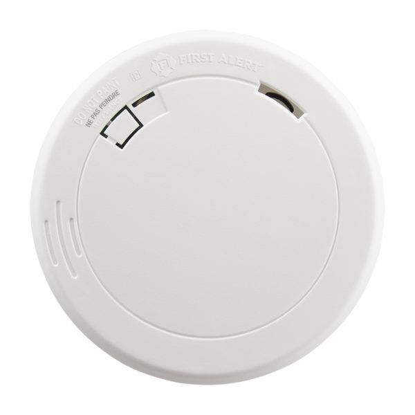 Slim Photoelectric Smoke Alarm with 10-Year Battery Front View
