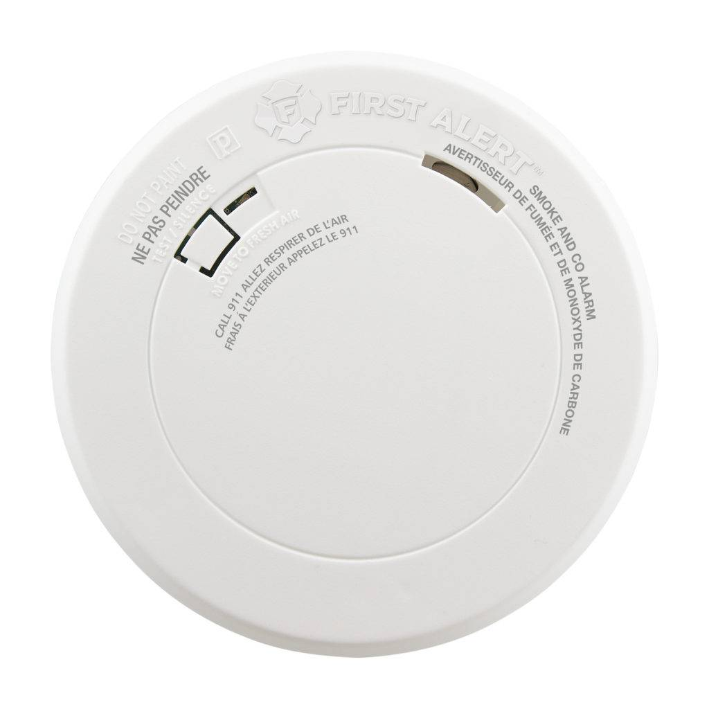 Combination Photoelectric Smoke and Carbon Monoxide Alarm with 10-Year Battery Front View