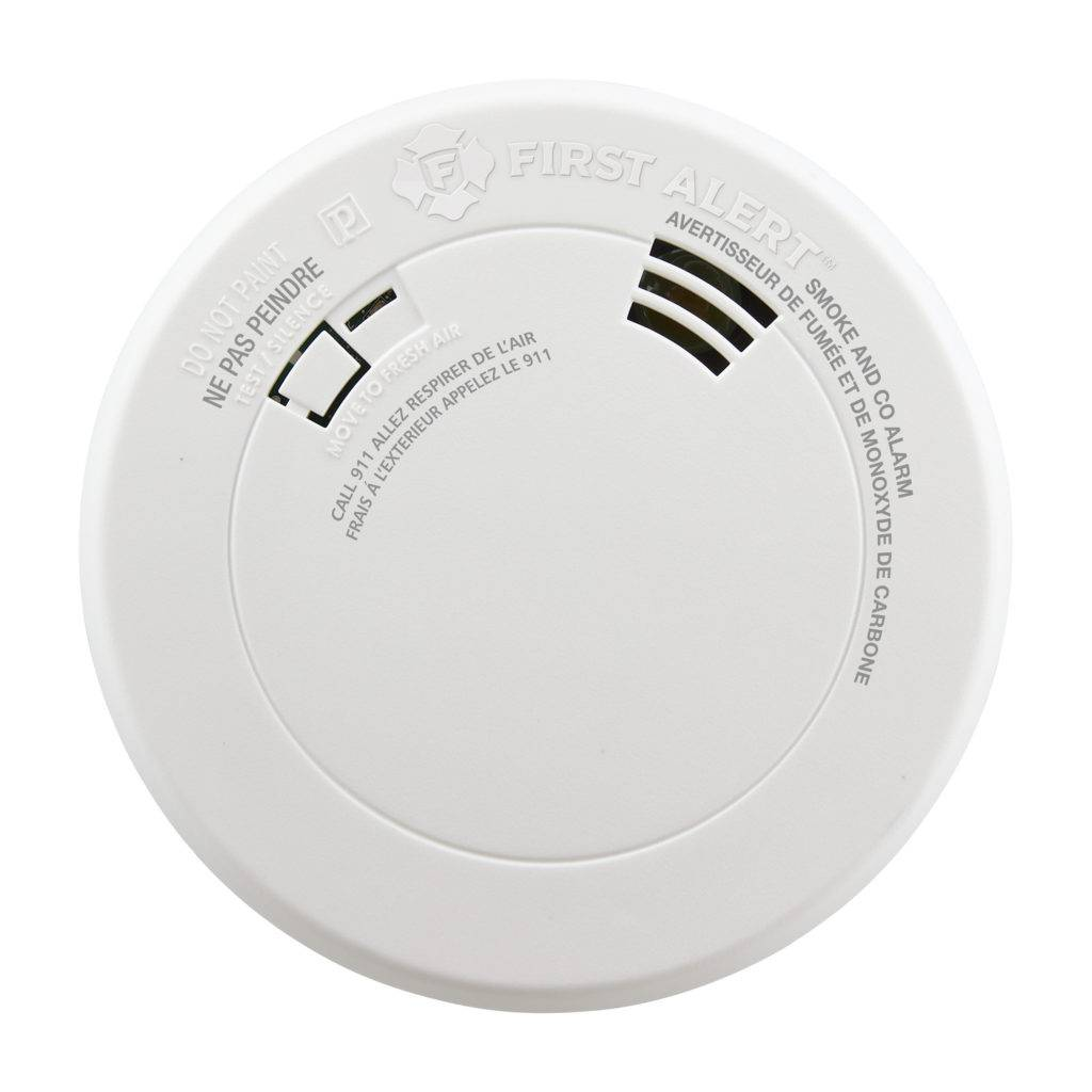 Combination Photoelectric Smoke and Carbon Monoxide Alarm with 10-Year Battery, Voice and Location Front View