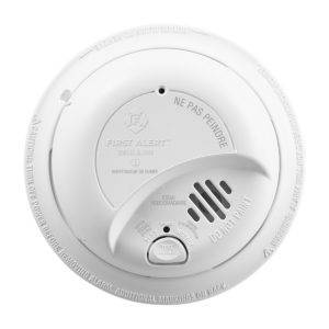 Hardwired Ionization Smoke Alarm with Battery Backup Front View