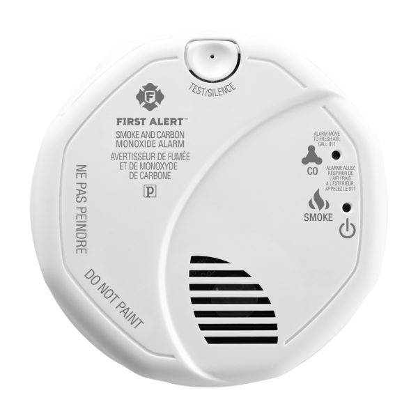 Hardwired Combination Photoelectric Smoke and Carbon Monoxide Alarm with Battery Backup Front View