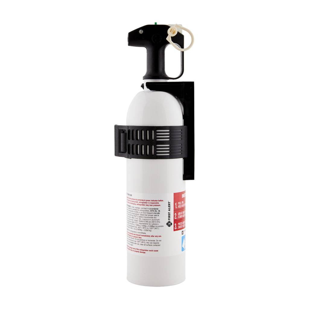 Personal Watercraft Fire Extinguisher UL Rated 5-B:C Side View