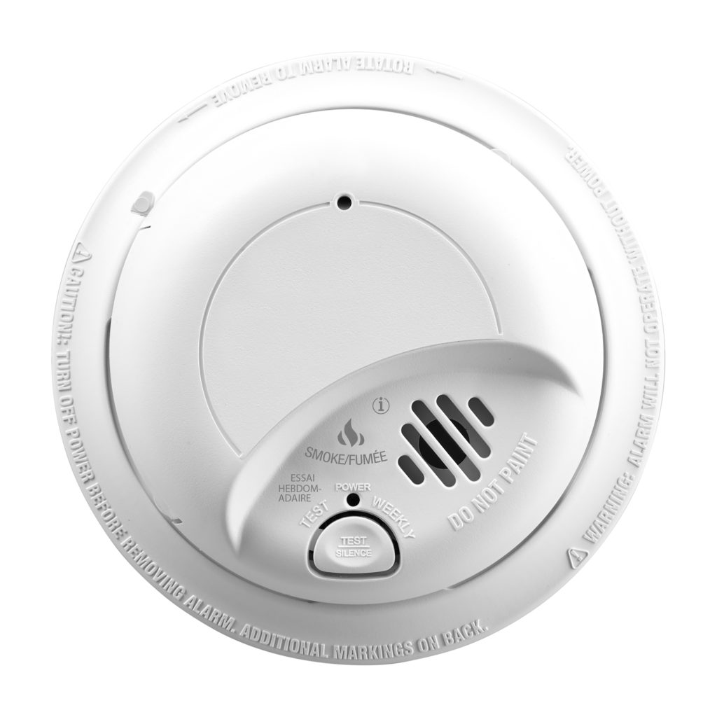 SC9120B Hardwired Smoke and Carbon Monoxide Alarm with Battery Backup front view