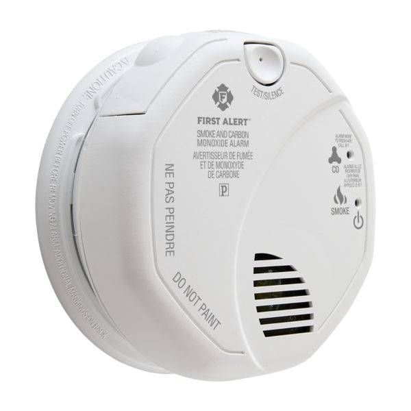 Hardwired Talking Photoelectric Smoke and Carbon Monoxide Alarm Angle View
