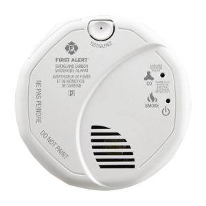 Hardwired Talking Photoelectric Smoke and Carbon Monoxide Alarm Front View
