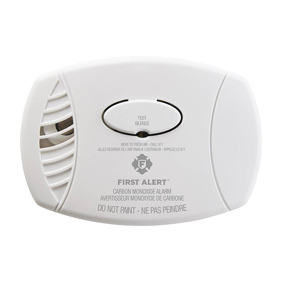 Carbon Monoxide Plug-In Alarm with Battery Backup Front View
