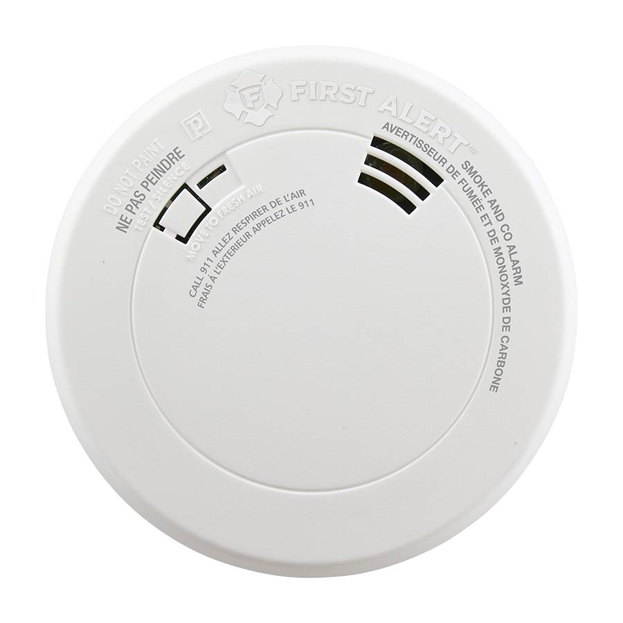 Smoke and Carbon Monoxide Alarm with Voice and Location, Battery Operated Front View