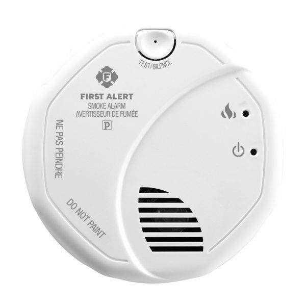 Wireless Interconnect Battery Smoke Alarm Front View