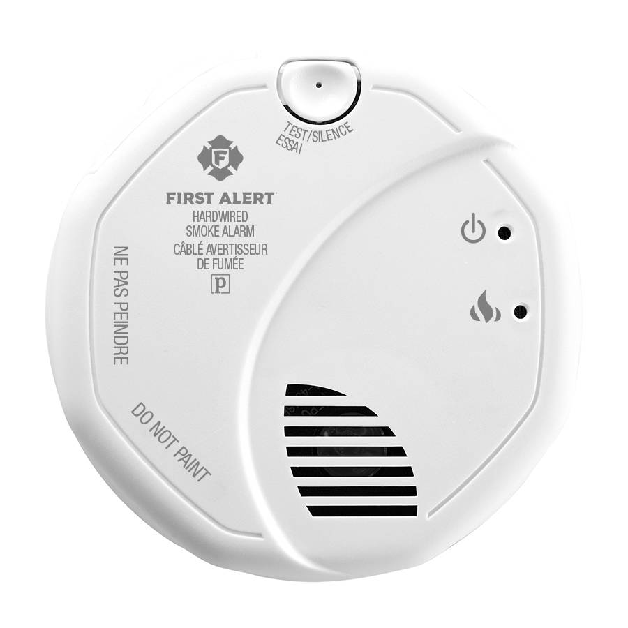 Interconnected Smoke Alarm with Hardwire Adapter Included Front View